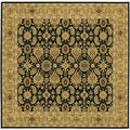 Royal Kashimar All Over Vase/Black-Deep Maple 6'6 Square Rug