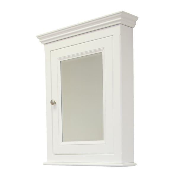 Perri White Reversible Door Wooden Medicine Cabinet