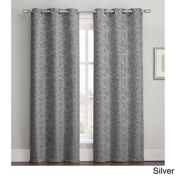 Victoria Classics Tianna 84 inch Grommet Curtain Panel Pair
