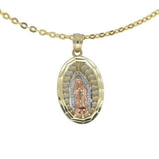 14k Tri-color Gold Guadalupe Necklace