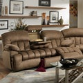 Carrington Brown Plush Mink Dual Reclining Sofa