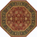 Royal Kashimar Cypress Garden Persian Red Rug (7'10 Octagon)
