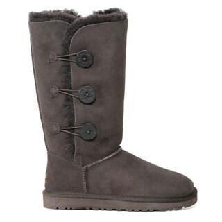 Ugg Women's 'Bailey' Chocolate Sheepskin Button Triplet Boots