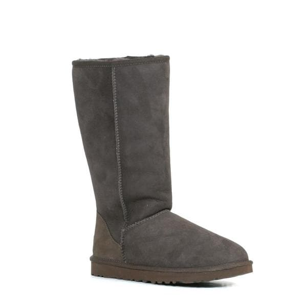 Ugg Women's Grey Classic Tall Button Boots (Size 6)