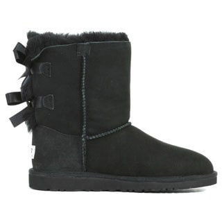 Ugg Kids Black Bailey Bow Boots
