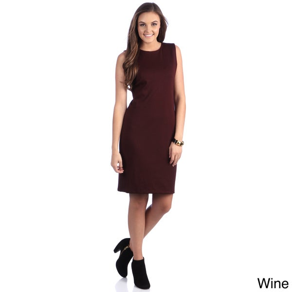 Amelia Knit Sheath Dress with Leopard Back Cutout
