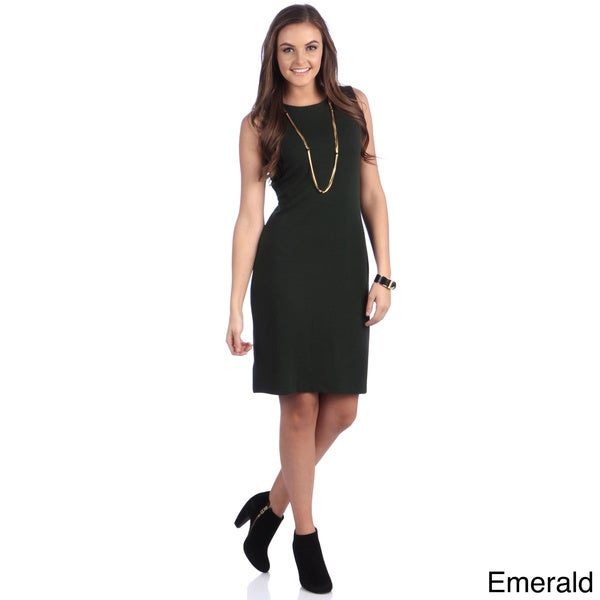 Amelia Women's Back Cut-out Sleeveless Sheath Dress