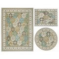 Nourison Assorted Diamonds Collection Beige 3-piece Rug Set