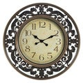 Elements 24-inch Round Scroll Clock