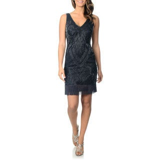 Patra Women's Allover Beaded Cocktail Dress