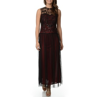 Patra Women's Beaded Gown with Tulle