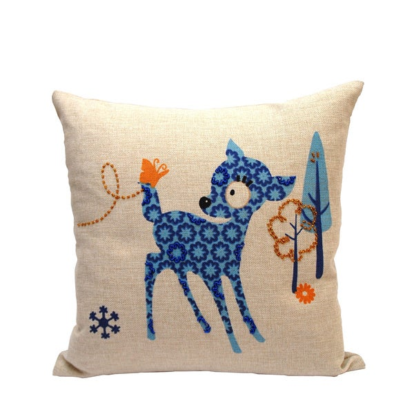 Baby Deer Decorative Throw Pillow