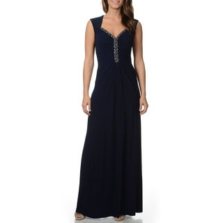 Decode 1.8 Women's Navy Jersey Knit Gown