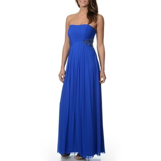 Decode 1.8 Women's Royal Blue Mesh Overlay Gown