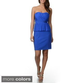 Decode 1.8 Women's Strapless Peplum Dress
