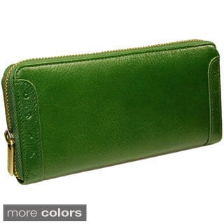 Castello Italian Leather Zip Around Long Wallet