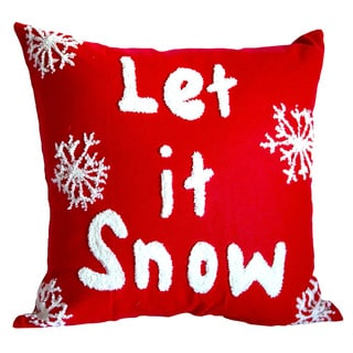 Let it Snow' Down-filled Decorative Throw Pillow