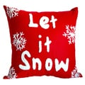 Let it Snow' Poly-filled Decorative Throw Pillow