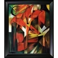 Franz Marc 'The Fox' Hand Painted Framed Canvas Art