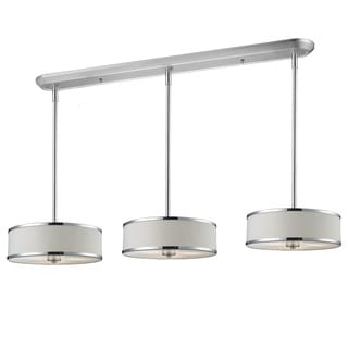 Z-Lite Chrome 9-light Island/ Billiard Fixture with White Shades
