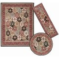 Nourison Assorted Diamonds Collection Multicolored 3-piece Rug Set