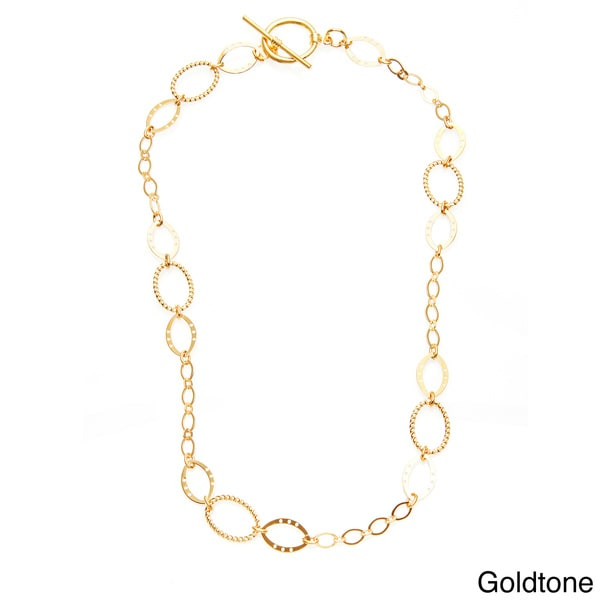 Simon Frank 20-inch Brass Oval Link Ashanti Chain Necklace