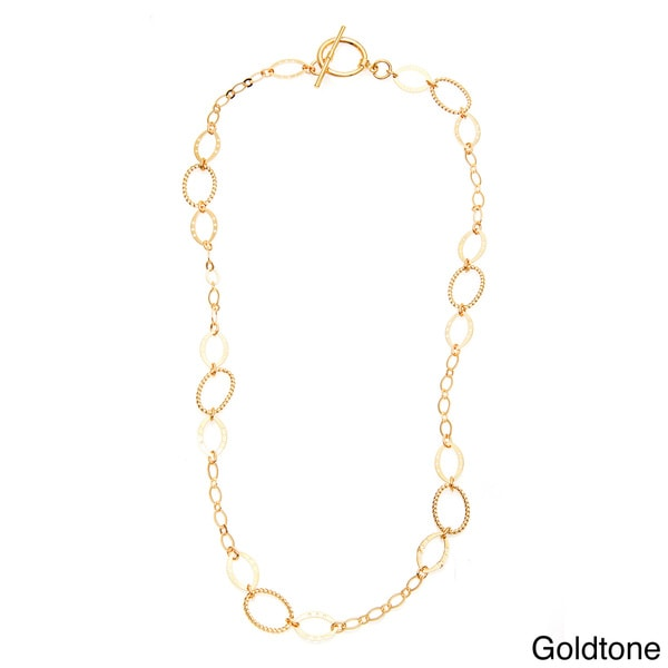 Simon Frank Brass 24-inch Oval Link Ashanti Chain Necklace