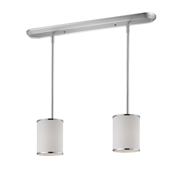 Z-Lite Chrome 2-light 60-watt Island/ Billiard Fixture