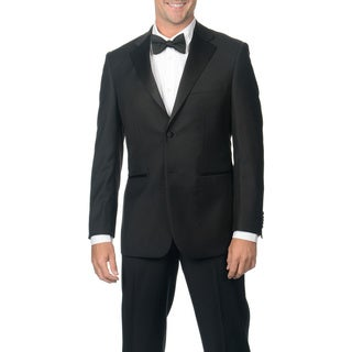 Nicole Miller Men's Black Wool Tuxedo