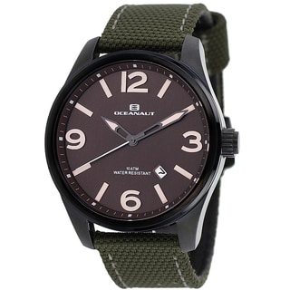 Oceanaut Men's Brown/Green Military Watch
