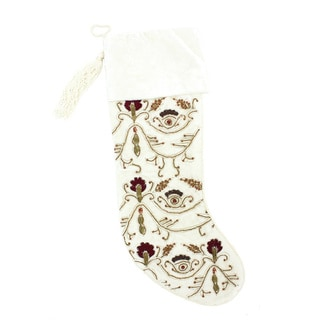 Velvet Red Beaded Stocking (India)
