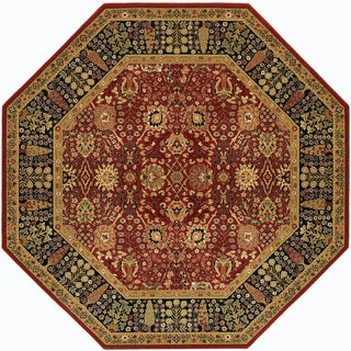 Royal Kashimar Cypress Garden Persian Red Rug (6'6 Octagon)