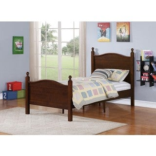 Twin-size Espresso Poster Bed