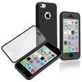 BasAcc Black/ Clear Book-style TPU Rubber Case for Apple iPhone 5C