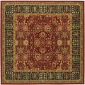 Royal Kashimar Cypress Garden Persian Red Rug (6'6 Square)