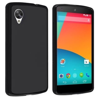 BasAcc Black Jelly TPU Rubber Case for LG Nexus 5 E980