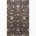 Hand-Made Oriental Pattern Gray/ Ivory Wool Rug (9x12)