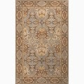Hand-Made Gray/ Brown Wool Easy Care Rug (2X3)