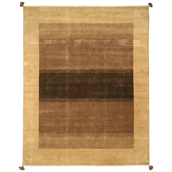 Handmade Tasseled Kashkuli Brown Wool Rug (8' x 10')