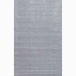 Hand-Made Gray Wool Textured Rug (3.6X5.6)