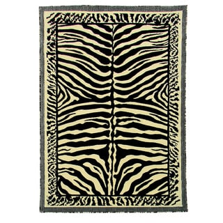 Kingdom Design 142 Beige Color Animal Skin Print Design Area Rug (5' x 7')