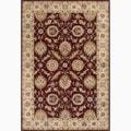 Handmade Oriental Pattern Red/ Taupe Wool Rug (9 x 12)