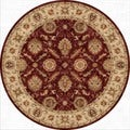 Hand-Made Oriental Pattern Red/ Taupe Wool Rug (10x10)