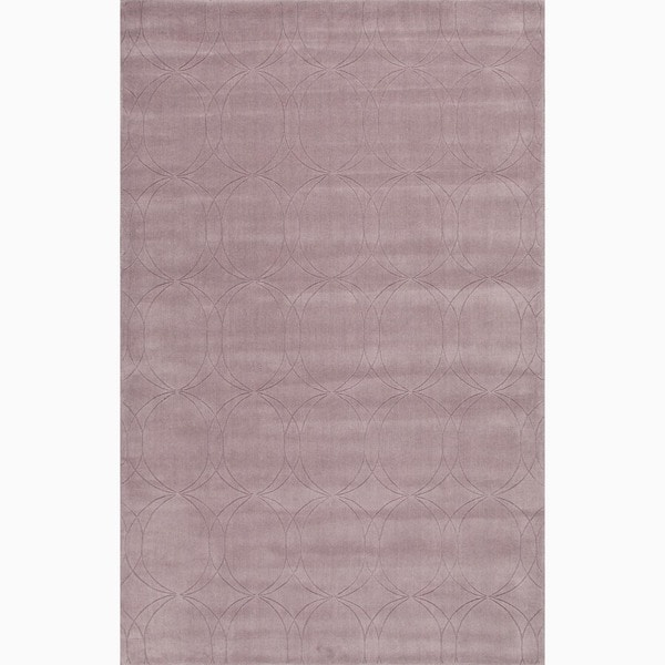 Handmade Purple Wool Te x tured Rug (2 x 3)