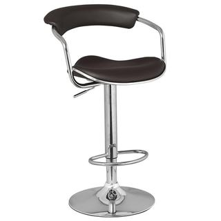 Deep Brown Barrel Back Adjustable Swivel Stool (Set of 2)