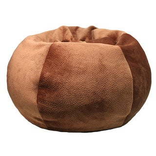 Extra Large Brown Portia Honey Textured Bean Bag