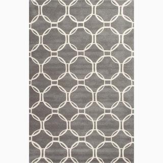 Handmade Gray/ Ivory Wool Te x tured Rug (4 x 6)