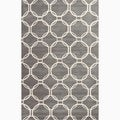 Hand-Made Gray/ Ivory Wool Textured Rug (8x10)