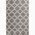 Hand-Made Gray/ Ivory Wool Textured Rug (2X3)