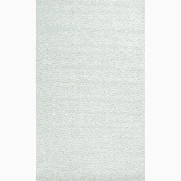 Handmade Blue Wool Te x tured Rug (2 x 3)